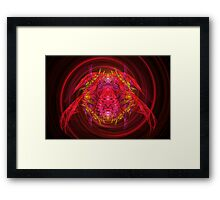 Fractal - Insect - Jeweled Scarab Framed Print