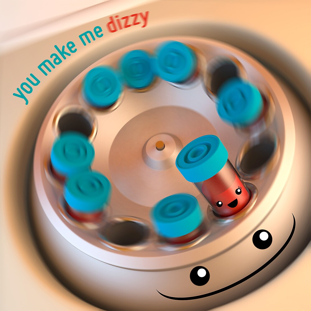 You Make Me Dizzy - Centrifuge - Cute Chemistry by chayground