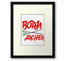 BORN ARCHERS Framed Print