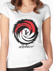 Agent 025 - 'The name's Pika, Pikachu.' Women's Fitted Scoop T-Shirt