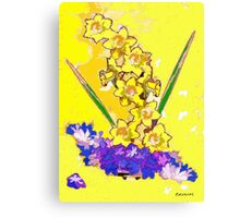 Daffodils and Crocuses Canvas Print
