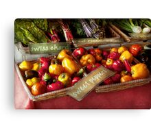 Food - Vegetables - Sweet peppers for sale Canvas Print