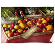 Food - Vegetables - Sweet peppers for sale Poster