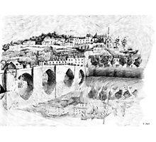 Terrasson black ink Photographic Print