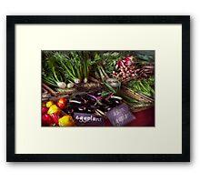 Food - Vegetables - Very fresh produce  Framed Print