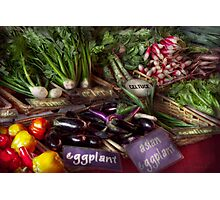 Food - Vegetables - Very fresh produce  Photographic Print