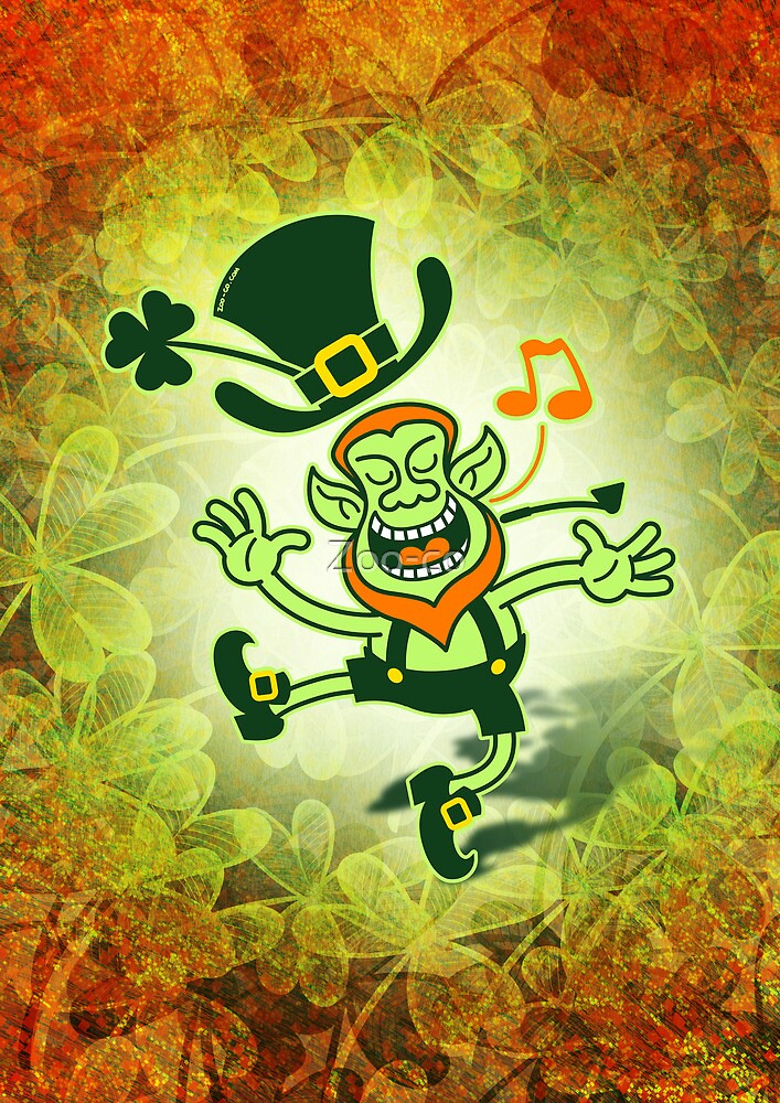 Irish Leprechaun Dancing and Singing by Zoo-co
