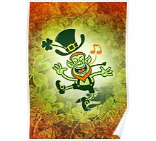 Irish Leprechaun Dancing and Singing Poster