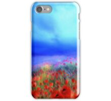 Poppies in the mist'... iPhone Case/Skin
