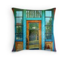 Old Forgotten Store Front In Caldwell, Idaho Throw Pillow