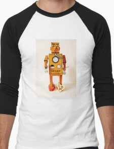 Robo Just Wants To Be Loved. Men's Baseball ¾ T-Shirt