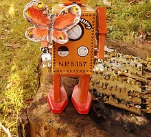 Robot Gets Down With Nature. by Kyran and Lyndsay Weir