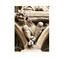 Notre Dame bestiary in Paris, France Art Print