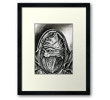 Wrex Portrait in Charcoal Framed Print