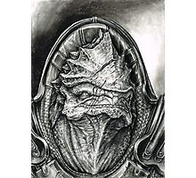 Wrex Portrait in Charcoal Photographic Print