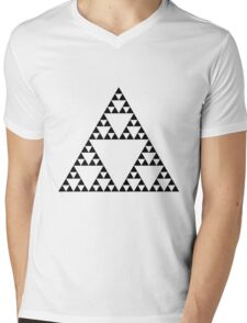 Sierpinski Triangle Mens V-Neck T-Shirt