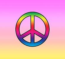 Smartphone Case - Peace Sign - Ultra Violet by Mark Podger