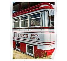 American Diner Booth Service Poster