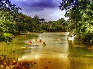 Mopan River in Bullet Tree Village - Belize, Central America by 242Digital
