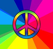 Iphone Case - Peace Sign - Spectrum 2 by Mark Podger
