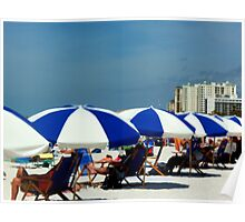 Clearwater Beach Umbrellas Poster