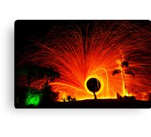 Fire Spinner Canvas Print