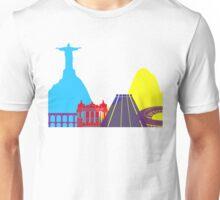 Rio de Janeiro skyline pop Unisex T-Shirt
