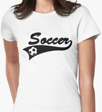 Soccer Womens Fitted T-Shirt