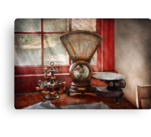 Mailman - The mail scale  Canvas Print