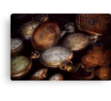 Steampunk - Clock - Time worn Canvas Print
