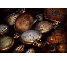 Steampunk - Clock - Time worn Photographic Print