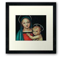 Madonna and Child, after Raphael Framed Print