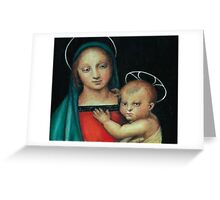 Madonna and Child, after Raphael Greeting Card