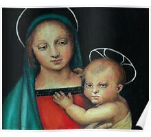 Madonna and Child, after Raphael Poster