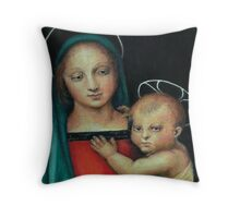 Madonna and Child, after Raphael Throw Pillow