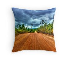 Mountain Pine Ridge Road in San Ignacio - Belize, Central America Throw Pillow