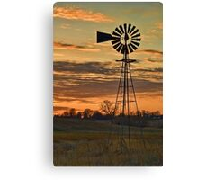 Sunset Windmill Canvas Print