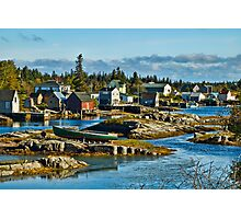 Fishing Village Photographic Print