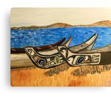 native kayaks in washington Canvas Print