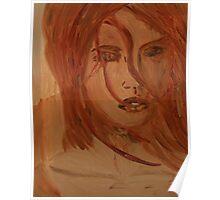 Affliction model paint sketch Poster