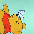 winnie the pooh and a butterfly by shoshgoodman