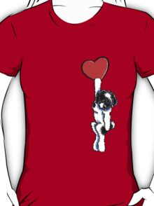 Black Parti Havanese Has My Heart T-Shirt