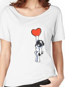 Black Parti Havanese Has My Heart Women's Relaxed Fit T-Shirt