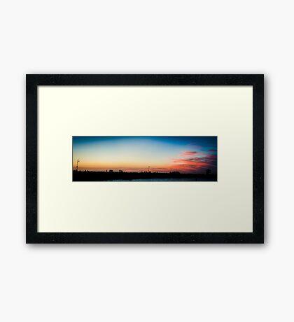 Melbourne Panorama Framed Print
