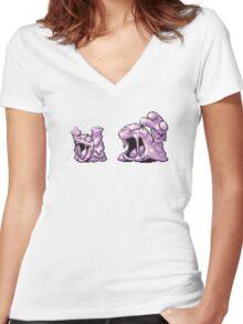 Grimer evolution  Women's Fitted V-Neck T-Shirt