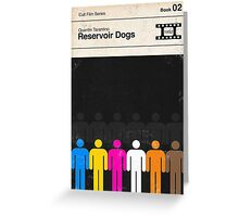 Reservoir Dogs Modernist Book Cover Series  Greeting Card