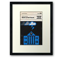 Back to the Future Modernist Book Cover Series  Framed Print