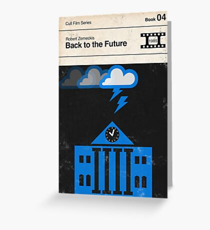 Back to the Future Modernist Book Cover Series  Greeting Card