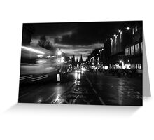 Princes Street. Edinburgh. B&W Greeting Card