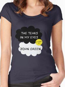 Tfios John Green Cover parody shirt. Women's Fitted Scoop T-Shirt